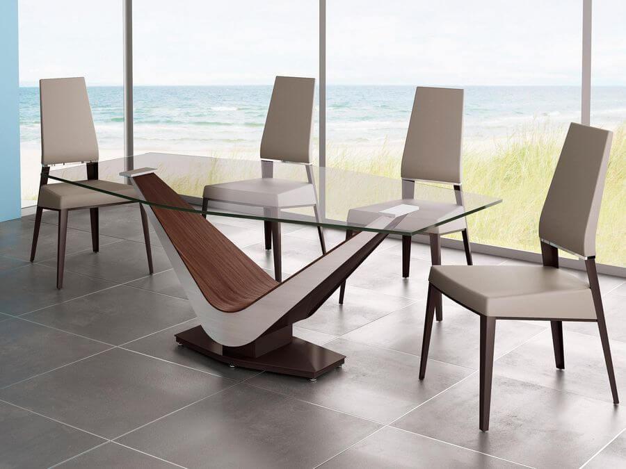 Стеклянные столы воздушные и легкие на myinterno.ru